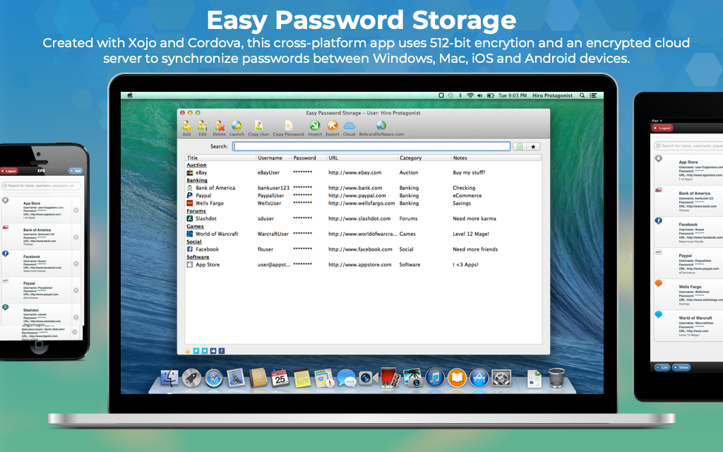 Easy Password Storage